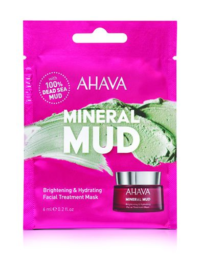 AHAVA Brightening & Hydrating Facial Treatment Mask - Single Use