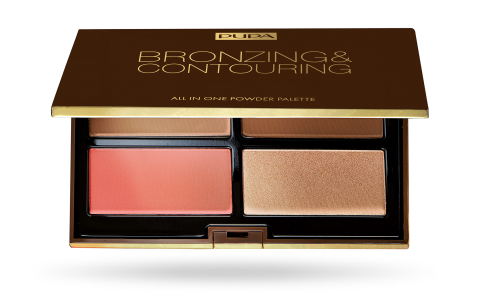 Bronzing & Contouring All-in One Powder Palette Dark Skin 003