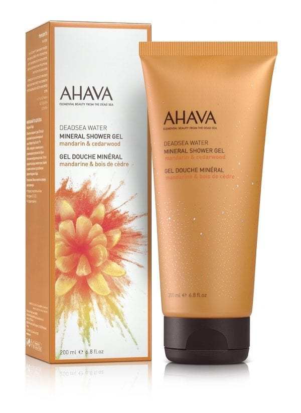 AHAVA Color collection Mineral Shower Gel - Mandarin en cedarwood